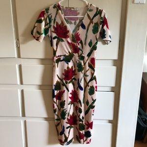 Floral Print Velvet dress